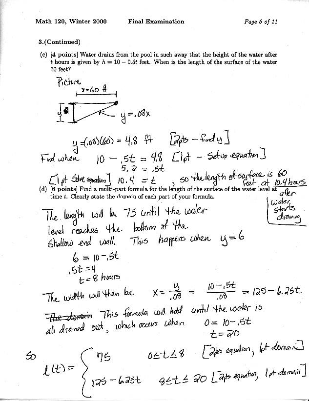 Math 120 Materials Website - Test Archive - Dept of