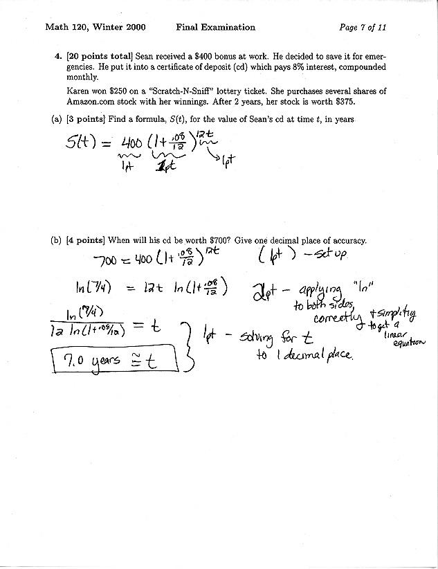 Math 120 Materials Website - Test Archive - Dept of Mathematics