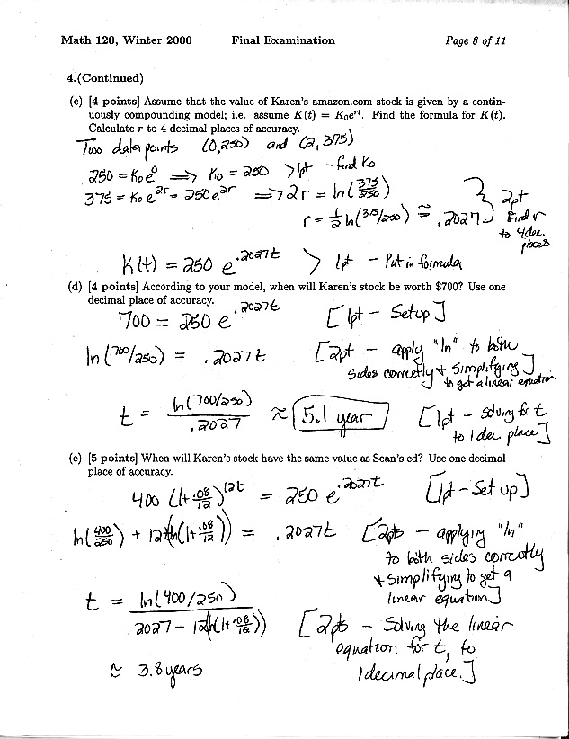 Math 120 Materials Website - Test Archive - Dept of